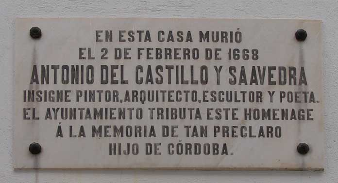 Archivo:Antonio del castillo placa.jpg