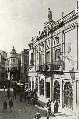 Ayuntamiento y Calle Capitulares, años 50