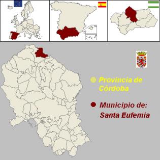 Resultado de imagen de santa eufemia mapa