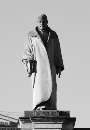 Benito Arias Montano (galería de Sevillanos Ilustres del Palacio de San Telmo, obra de Antonio Susillo) Foto: Galván Sevillapedia
