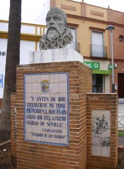 Monumento A Cervantes Mairena Del Alcor Sevillapedia