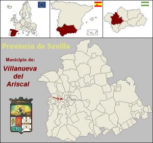 Villanueva Del Ariscal Mapa.Villanueva Del Ariscal Sevillapedia